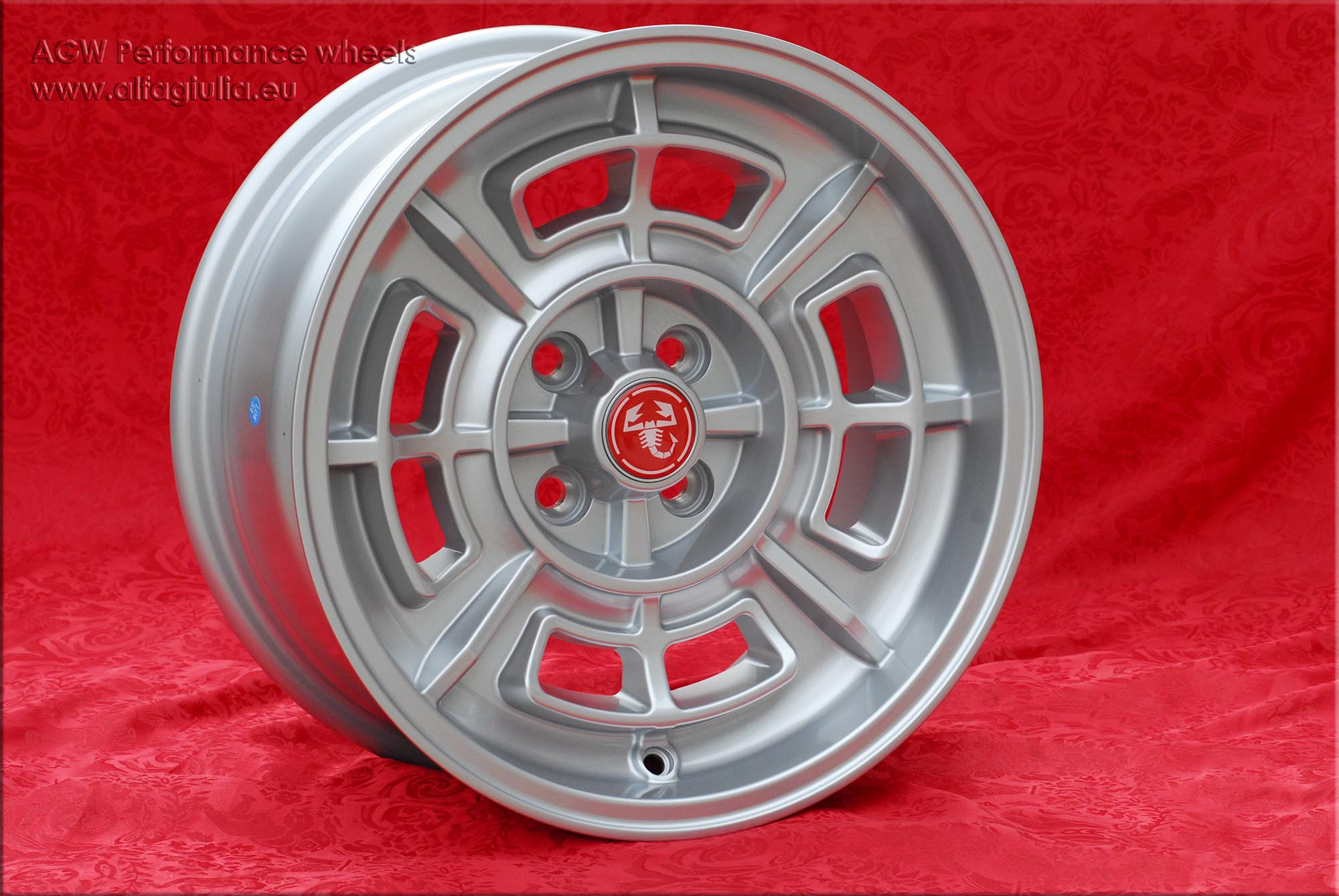 Fiat Cromodora CD80 Fiat 124 125 131 X1/9 Spider  7x15 ET0 4x98 c/b 58.6 mm Wheel