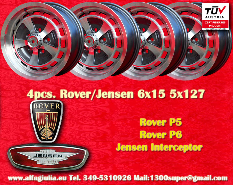 Jensen Jensen Interceptor  6x15 ET35 5x127 c/b 73.9 mm Wheel